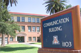 Image of the Communications Building at the University of Arizona